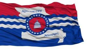 Lokalisierter Jefferson City Flag, bewegend auf weißen Hintergrund wellenartig Lizenzfreie Stockbilder