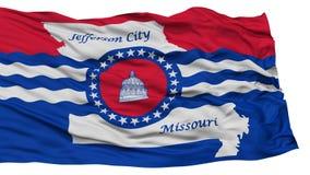 Lokalisierter Jefferson City Flag, die Vereinigten Staaten von Amerika Lizenzfreie Stockfotografie