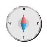Lokalisierter Kompass auf weißem Hintergrund, Vektor-Illustration Stockbild