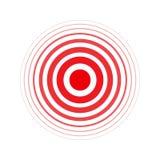 Lokalisierter mutiger Vektorrotring Schmerzkreis Symbol von Schmerz Für Ihr medizinisches Design lizenzfreie abbildung