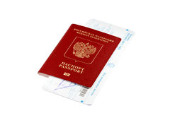 Lokalisierter Pass mit thailändischer Immigrationskarte Lizenzfreies Stockbild