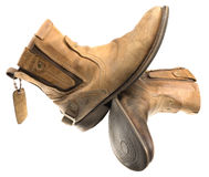 Lokalisierter Patina-Ingenieur Leather Boot Stockfoto