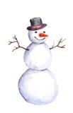 Lokalisierter Schneemann in oberstemheißem Stock Abbildung