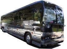Lokalisierter schwarzer Ausflug-Charter-Bus stockfotografie
