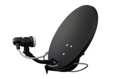 Lokalisierter schwarzer Satelitte auf weißem Hintergrund Lizenzfreie Stockbilder
