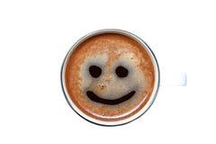 Lokalisierter Tasse Kaffee mit einem Lächeln Stockfoto
