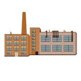 Lokalisierter Vektor der Fabrikindustrie Gebäude Lizenzfreie Stockbilder