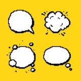 Lokalisierter Vektor der Pixelpop-arten-Sprache Blasen Lizenzfreies Stockfoto