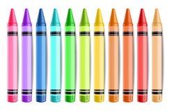 Lokalisierter Vektor Pastelate Bleistifte realistisch Kreative Hintergrundillustrationen vektor abbildung