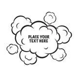 Lokalisierter Vektorhintergrund der Karikaturpop-art Wolken Stockbild