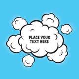 Lokalisierter Vektorhintergrund der Karikaturpop-art Wolken Stockbilder
