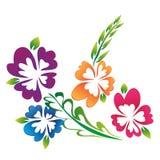 Lokalisierter weißer Hintergrund der Blume Illustration Stockfoto