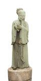 Lokalisierter weißer Hintergrund Konfuzius Statue Stockfotografie