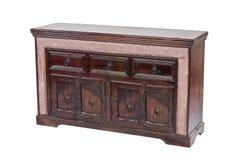 Lokalisiertes antikes Holzmöbel für Anzeige Lizenzfreies Stockbild