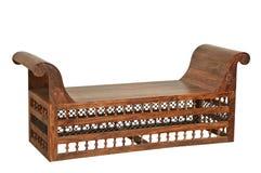 Lokalisiertes antikes Holzmöbel für Anzeige Lizenzfreie Stockbilder