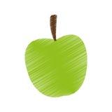 Lokalisiertes Apfeldesign Stockfotos