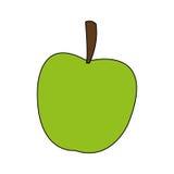 Lokalisiertes Apfeldesign Lizenzfreies Stockbild