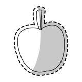 Lokalisiertes Apfeldesign Stockfotografie