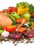 Lokalisiertes Bild des unterschiedlichen rohen Gemüses Lizenzfreie Stockbilder