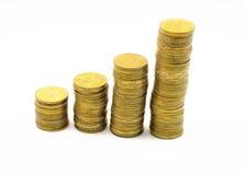 Lokalisiertes Bild Spalten der Münzen Lizenzfreie Stockfotografie