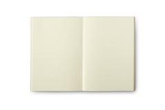 Lokalisiertes Creamish Notizbuch der Leerseite Farb Lizenzfreies Stockbild