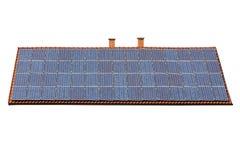Lokalisiertes Dach voll der Solarenergie lizenzfreie stockbilder