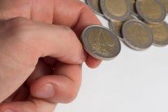Lokalisiertes Geld monet Lizenzfreie Stockbilder