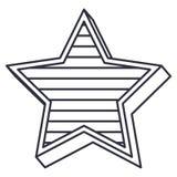 Lokalisiertes gestreiftes Sterndesign Lizenzfreie Stockbilder