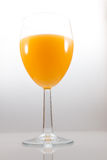 Lokalisiertes Glas Orangensaft Stockbilder