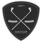 Lokalisiertes Golfemblem stock abbildung