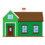 Lokalisiertes grünes Haus Lizenzfreies Stockbild