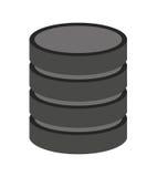 lokalisiertes Ikonendesign der Daten Scheibe Stockfotos