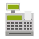 lokalisiertes Ikonendesign der Registrierkasse Stockbild