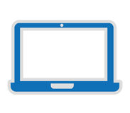 lokalisiertes Ikonendesign des Computers Portable Lizenzfreie Stockfotografie