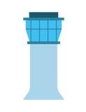 lokalisiertes Ikonendesign des Flughafens Turm Stockfotos