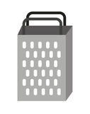 lokalisiertes Ikonendesign des Küchengeräts Reibe Stockfotos