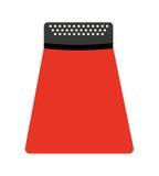 lokalisiertes Ikonendesign des Küchengeräts Reibe Stockbilder