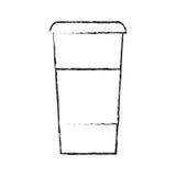 Lokalisiertes Kaffeetassedesign Stockbild