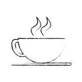 Lokalisiertes Kaffeetassedesign Lizenzfreie Stockbilder