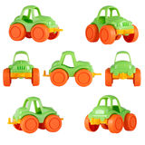 Lokalisiertes Kinderspielzeugauto Verschiedene Winkel Lizenzfreies Stockbild