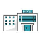 Lokalisiertes Krankenhausgebäudedesign Lizenzfreie Stockbilder