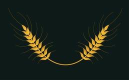 Lokalisiertes Logo des Weizens Vektor vektor abbildung