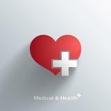Lokalisiertes medizinisches Symbol mit transparentem Schatten Stockbild