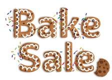 Lokalisiertes Plätzchen Art Bake Sale Graphic lizenzfreies stockfoto