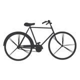 Lokalisiertes Retro- Fahrrad Stockfotografie
