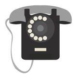 Lokalisiertes Retro- Telefon Stockbild