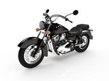 Lokalisiertes schwarzes klassisches Motorrad vektor abbildung