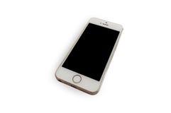 Lokalisiertes Smartphone mit weißem Hintergrund Lizenzfreies Stockfoto