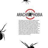 Lokalisiertes Spinnenvektorlogo Insekten-Illustration arachnophobia Dieses ist Datei des Formats EPS10 Lizenzfreies Stockbild