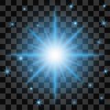 Lokalisiertes starburst Muster auf einem transparenten Hintergrund Stockfotografie